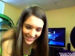 youthful step-sister receives tugjob and facialed