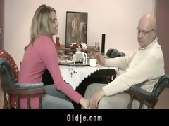 old fellow fucking exquisite blond legal age
