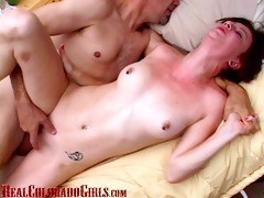 hard bodied redhead has multiple orgasms fucking