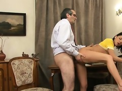 teacher is getting juicy blow job stimulation