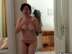 wife going wild when finds him fucking her mom