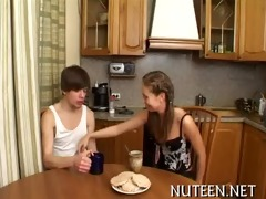 babe disrobes her boyfriend