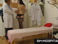 dark brown mistress gyno check-up oozed spy web