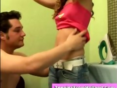 sexually excited euro teen bare and fondled