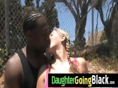 hawt daughter cock engulf and interracial fuck 11