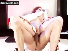 daughter throat and a-hole destruction